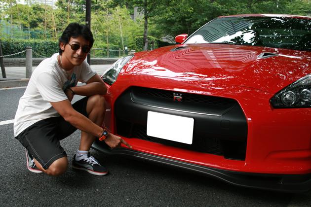 影山正美選手と愛車のGT-R
