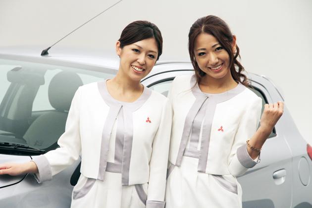 三菱コミュニケーションスタッフの川村 麻衣さん(左)、阿川 麻美さん(右)